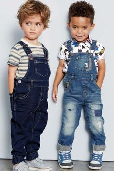 Collection of toddler overalls and trousers intended for sturdiness and make the baby comfortable. Begin the process of searching now! Toddler Boy Fashion, Little Boy Fashion, Toddler Boy Outfits, Cute Outfits For Kids, Kids Fashion, New Fashion Shirts, Toddler Boy Haircuts, Boys Clothes Style, Birthday Boy Shirts