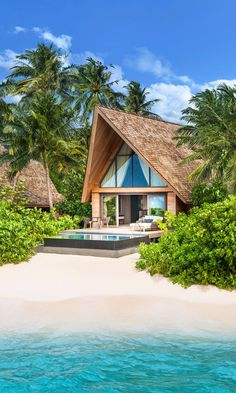 The St. Regis Maldives Vommuli Resort, Dhaalu Atoll, Maldives Forty-four-overwater suites with dolphins and manta rays swimming under your deck.