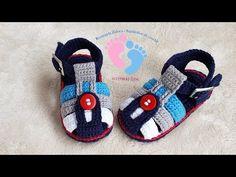 Booties Crochet, Crochet Baby Boots, Crochet Bebe, Crochet For Boys, Crochet Shoes, Diy Crochet, Baby Booties, Hand Crochet, Baby Shoes