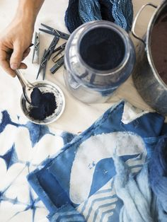 Learn how to dye indigo with Graham Keegan