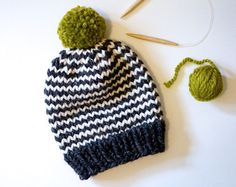 063662ae135 Chunky Knit Color Block Beanie    Chunky Knit от StarSeventeen Baby Hats  Knitting