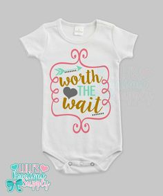 Personalized twin baby all in one shirt bodysuit set of 2 custom baby girl shirt bodysuit custom worth the wait baby short sleeve baby girl negle Choice Image