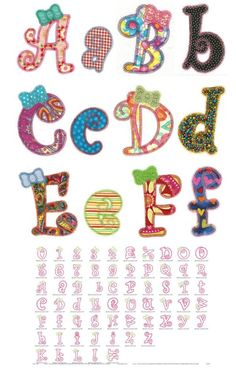 Sugar and Spice Applique Alphabet ( Sugar And Spice Applique Alphabet Is Sweet As Can Be! Includes Three Different Sizes With Both Uppercase And Proportional Lowercase Letters, As Well As Numbers 0-9. Perfect For The Little Girl In Your Life! )
