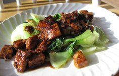 Ginger tofu with bok choy - must try!