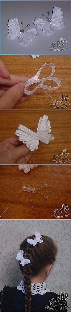 10 DIY and crafts Pins you might like Ribbon Art, Diy Ribbon, Ribbon Crafts, Ribbon Bows, Paper Crafts, Teal Ribbon, Hair Ribbons, Handmade Flowers, Diy Flowers