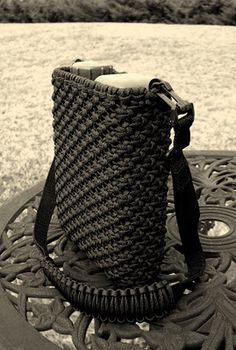 Over 200 ft of Paracord used to make this custom Canteen cover!