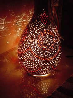 Turkish gourd lamp red and white gems inlaid with light coming through reflecting in the marble floor Turkish Lights, Turkish Lamps, Moroccan Lamp, Moroccan Ceiling Light, Turkish Art, Turkish Decor, Arabesque, African Room, Gourd Lamp