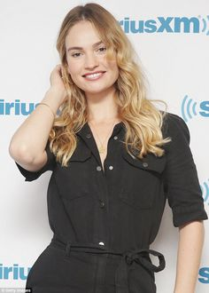 On Thursday, Lily James continued to promote Mamma Mia! Here We Go Again as she appeared at SiriusXM Studios in New York. She cut a casual chic figure in a black jumpsuit. Lily James, James Blue, Blonde Color, Hair Color, Fashion And Beauty Tips, Spring Summer Trends, Mamma Mia, Old Actress, Hollywood Celebrities