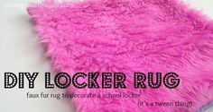 DIY Locker Rug | 17 DIY Locker Decorations, see more at: http://diyready.com/17-diy-locker-decorations/