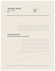 Modern Cover Letter Template 120240 Layout