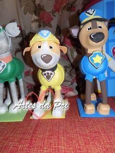 Artes da Pri: Personagens em eva 3D Patrulha Canina