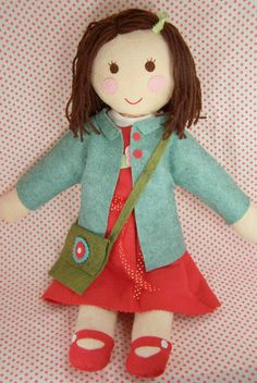 so cute.  the messenger bag is the kicker. She's like a homemade groovy girl!