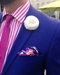 Personalized Marsden Signature Stripe Tie with Embroidered Monogram