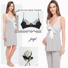 Pijama ou Camisola para gestante e período de amamentação  Maternity and breast-feeding