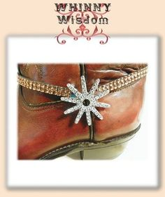 Western Crystal Spur Boot Anklet with Amber Crystal Strap with Amber Crystal Strap.  Only $11.50 + Shipping
