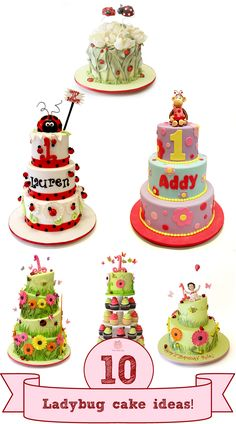 Planning a ladybug themed party?  Look for ladybug cake inspiration at Pink Cake Box!