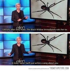 Black Widows… Ellen is the best :) so funny