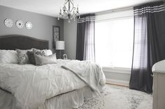 Grey and White monochromatic Bedroom