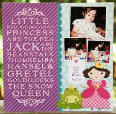 Cricut Once Upon A Princess and Word Collage