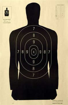 NRA Police Silhouette Shooting Target