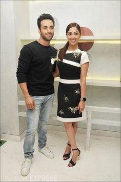 Pulkit Samrat and Yami Gautam promoting #SanamRe. #Bollywood #Fashion #Style #Beauty #Hot