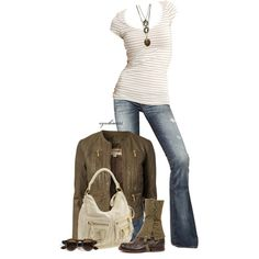 A fashion look from June 2013 featuring white short sleeve top, zipper jacket and destruction jeans. Browse and shop related looks.