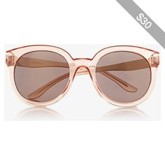 Express Translucent Tinted Frame Round Sunglasses
