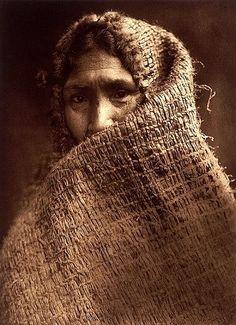 Hesquiaht woman in shawl