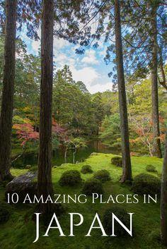 My ten favorite places between Kyoto and Hiroshima, Japan.