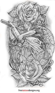 Bildergebnis für guardian angel tattoo drawings