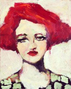16 x 20 Original Oil Painting Miss Zelda  by CorinneGallaFineArt