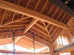 """wooden roof construction details - """"Google"""" paieška Construction, Cabin, House Styles, Google, Home Decor, Ceilings, Building, Homemade Home Decor, Cabins"""