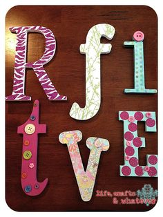 Fun activity for your guests! Have them paint letters for the baby's nursery.  Spell out the baby's name, the entire alphabet or special quote