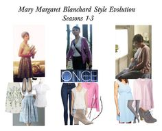 """""""Mary Margaret Blanchard Style Evolution: Seasons 1-3"""" by mrslucy ❤ liked on Polyvore featuring A Pea in the Pod, Once Upon a Time, Allude, Goat, Prada, N.Peal, Topshop, Daniel Rainn, Bow & Arrow and Smartwool"""