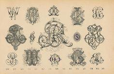 Schriftarten und  Zierschriften pm 1890  monogramme h