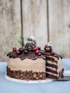 Live to Bake: Voňavá čokoládová torta so škoricou a brusnicami Cake Recept, Croatian Recipes, Cake & Co, Russian Recipes, Yummy Cookies, Let Them Eat Cake, Cake Designs, Chocolate Cake, Delicious Desserts