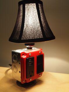 Table or desk lamp & USB charging station (Iphone, blackberry, tablets). $96.00, via Etsy.