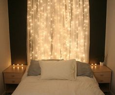 romantic treatment to hide small window above bed