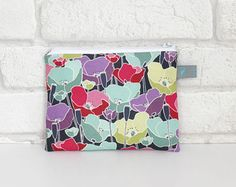 Small Make Up Pouch/Bag Poppy Meadow