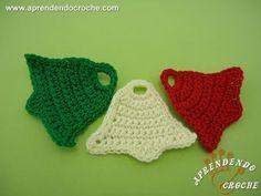 ▶ Sino de Croche para Aplicação e Enfeite - Aprendendo Crochê - YouTube