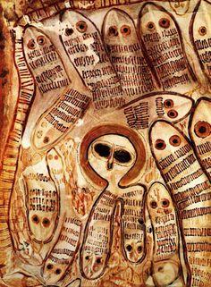 En 1838, cerca de Glenelg River, en la región de Kimberley, al noroeste de Australia, fueron descubiertas gran cantidad de pinturas rupestres de gran tamaño. Entre las pinturas descubiertas sobre las rocas llaman especialmente la atención las de unas figuras de gran tamaño, llegando a medir hasta seis metros, y con unos rostros blancos y sin boca.