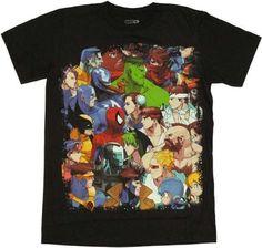 Marvel vs Capcom Cover T-Shirt Sheer X-Small