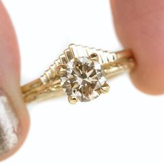 """9fb8fae9ff2 ... Instagram  """"New stacking option coming soon with the Cliff Dweller band!  She s shown here with our 1.73ct champagne Evergreen solitaire in yellow  gold."""