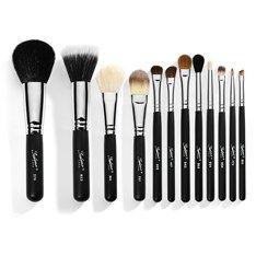 Travel 12 Piece Professional Makeup Brushes - Black