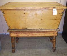 Antique Pine Furniture, Refinished Furniture, Primitive Furniture, Cabinet Furniture, New Furniture, Rustic Furniture, Furniture Makeover, Dough Box, Habitat For Humanity Restore