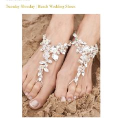 ditch the heels and wear beautiful diamond vines on the beach