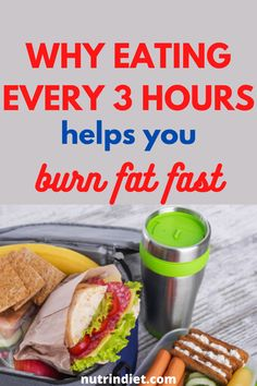 Eating every 3 hours makes you eat fewer amounts of food at shorter time intervals and your stomach naturally decreases... #BurnFatTips #FatBurning Fat Burning Tips, Fat Burning Foods, Fat Burning Workout, Fat Burning Smoothies, Fat Burning Drinks, Burn Calories Fast, Speed Up Metabolism, Fat Burning Supplements, Fat Fast