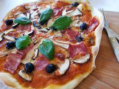 Deliciosa paparoca: Pizza de cogumelos e bacon