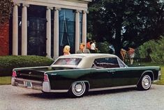 1965 Lincoln Continental Convertible in Spanish Moss Metallic with Tan convertible top