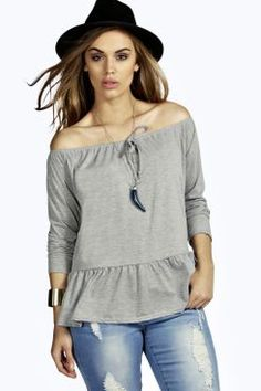 Plus Esther Gypsy Off The Shoulder Top